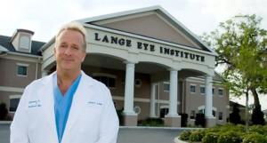 Dr. Michael Lange in front of The Lange Eye Institute.