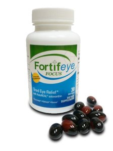 Fortifeye Focus  6 mg of astaxanthin, 4mg  Lutein and 400 mcg of zeaxantin