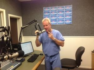 Michael Lange OD, Talk show host.